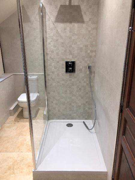 r novation et transformation d 39 une salle de bain en salle de douche deauville 14800. Black Bedroom Furniture Sets. Home Design Ideas