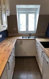 Rénovation et décoration d'une cuisine dans un appartement à DEAUVILLE 14800