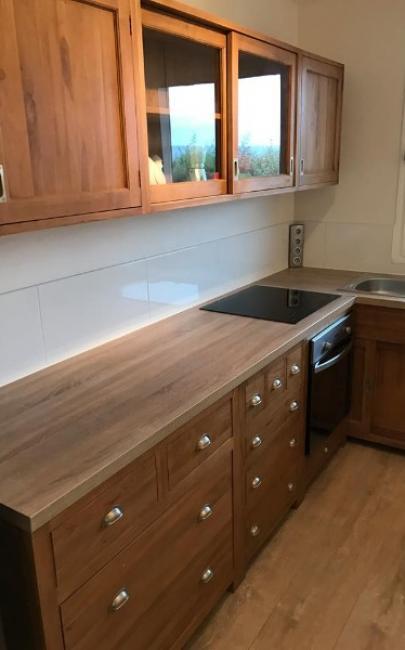 Rénovation complète d'une cuisine dans un appartement à BLONVILLE SUR MER 14910