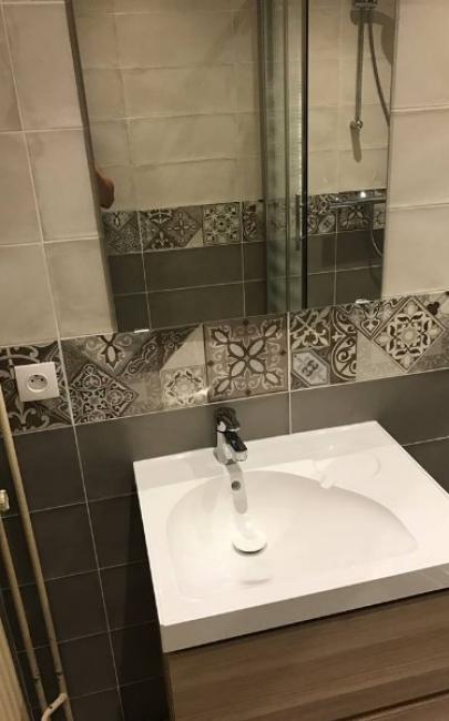 Création d'une salle de douches dans un appartement à TROUVILLE SUR MER 14360