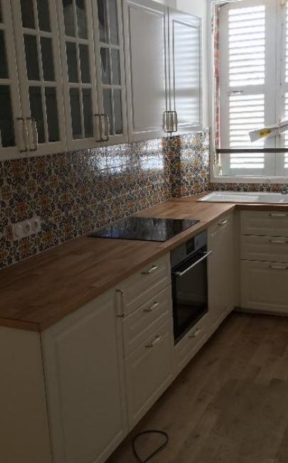Rénovation complète d'une cuisine dans un appartement à TROUVILLE SUR MER 14360